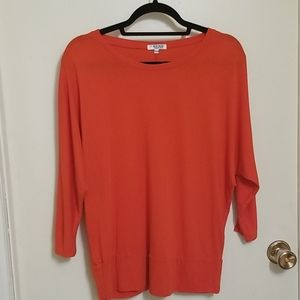 Blue Crush Red Dolman Sleeve Top